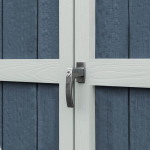 Heavy-duty locking handle is constructed in steel to prevent rust and corrosion.