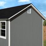 Soffit overhang provides a premium upscale appearance.