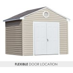 Choose your door location – place your entry on the gable or eave side of the building. (10'x8' size shown with doors on gable side)