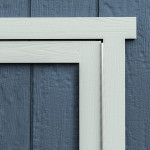 Continuous piano hinges prevent sagging to ensure your shed stands the test of time.