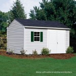 Built with 2x4 construction, this vinyl-sided shed design is our strongest, most durable shed we offer. (10'x16' shed shown with doors on eave side)