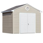 Choose your door location – place your entry on the gable or eave side of the building. 10'x8' Sentry shown with optional window, vent and shutters. Doors shown on gable side.