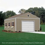 The Aspen shed is built on site, is fully primed and ready to paint in the color of your choice. (paint not included) (16x16' size shown)