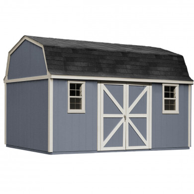 Flexible design allows you to place the doors on the gable side or eave. 10'x14' Hartord shown with optional windows.