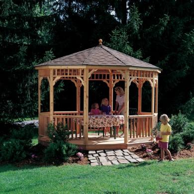 Wooden Gazebos & Pergolas for Backyards   Backyard Buildings