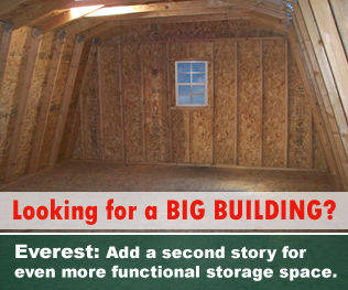 Large storage building with second story upgrade available