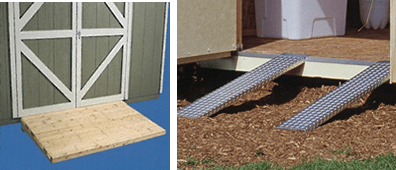 How To Build A Ramp For A Shed On Uneven Ground Cicellia
