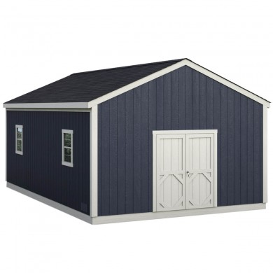 A large storage shed with no limits. Shown with optional windows.