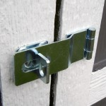 Includes swivel hasp lock to keep your items inside secure.