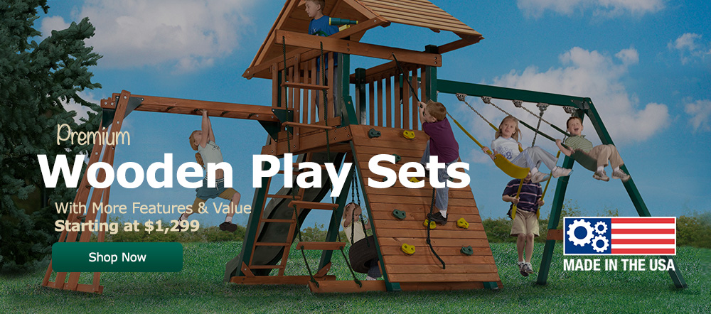 Backyard Buildings - Playsets Now On Sale!
